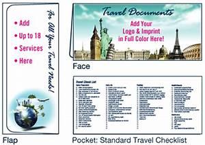 travel scenes document folder custom travel agent folders With travel document holders for travel agents