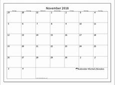 Kalender November 2018 70MS