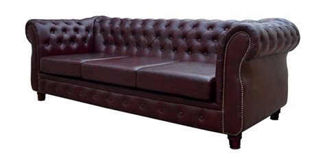 buy oxford  seater chesterfield  dual cherry colour