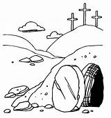 Tomb Coloring Jesus Easter Pages Printable Empty Sunday Bible Colouring Crafts Printablecolouringpages Sheets sketch template
