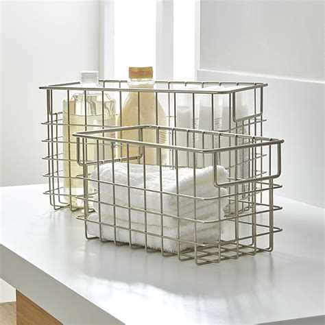 wire crate wire baskets crate and barrel