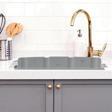 Kitchen Island Sink Splash Guard by Home Silicon Kitchen Sink Water Splash Guard Grey
