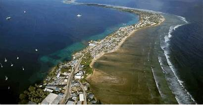 Drone Footage Rising Sea Levels Islands Marshall