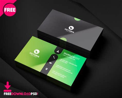simple business card freedownloadpsdcom