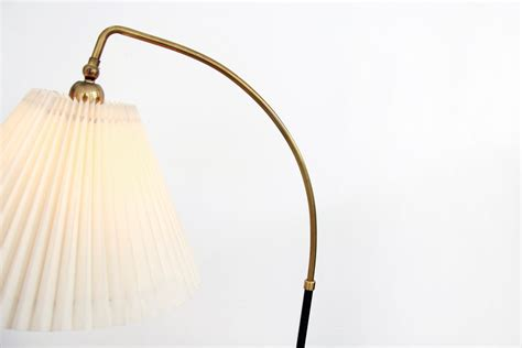 Danish Standing Lamp With Le Klint Shade By Svend Aage