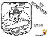 Coloring Submarine Pages Uss Montpelier Yescoloring Navy Sheet Boss sketch template