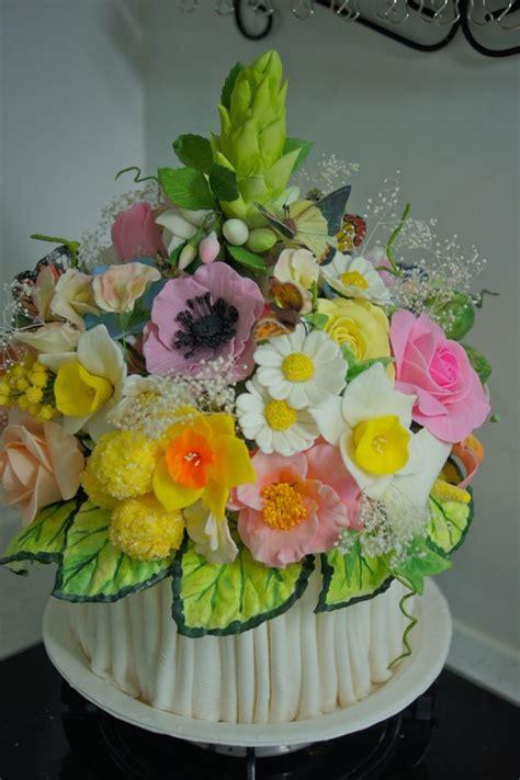 gumpaste flowers topper   wedding cake cakecentralcom