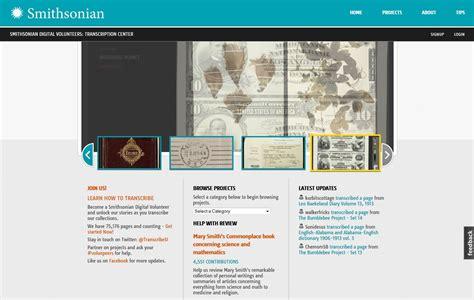 Smithsonian Digital Volunteers: Transcription Center ...