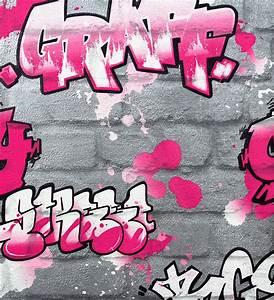 Tapete Jugendzimmer Mädchen : tapete rasch kids 39 club 237818 steine graffiti silber pink ~ Michelbontemps.com Haus und Dekorationen