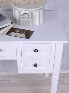 Landhaus Schreibtisch Weiß : romantische konsole schreibtisch im shabby chic weiss cottage landhaus stil ebay ~ Markanthonyermac.com Haus und Dekorationen