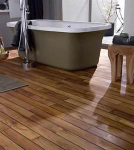 carrelage salle de bain imitation parquet leroy merlin With sol stratifie pour salle de bain