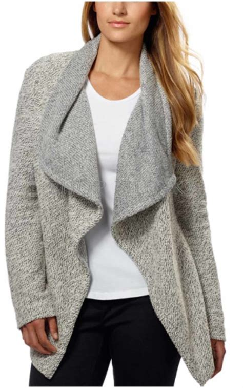 drape front cardigan bnci by blanc noir s tweed drape front shawl collar