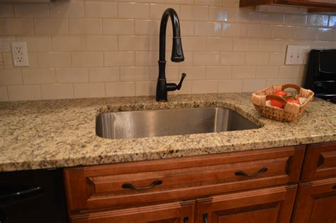 Subway Tile Kitchen Backsplash with Granite