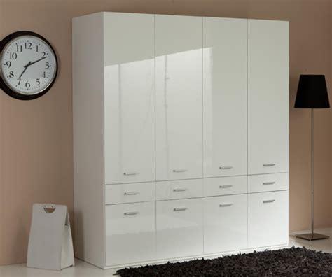 armoire chambre 4 portes armoire 4 portes 8 tiroirs versa blanc