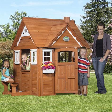 Backyard For Children by My Cedar Playhouse Playground Cedar Playhouse Wood