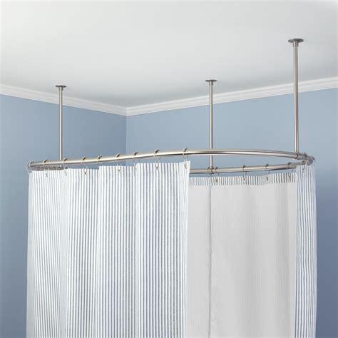 shower curtain rod oval solid brass shower curtain rod bathroom