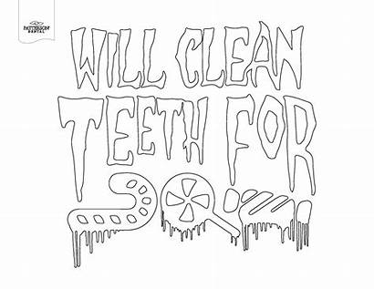 Coloring Dental Sheets Themed Pun Pages Teeth