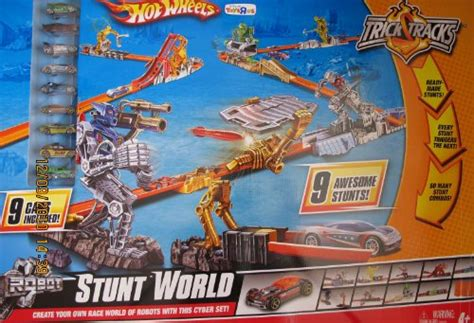 hot wheels trick tracks robot stunt world   cars toys