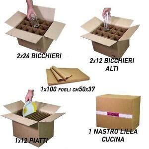 Scatole Per Bicchieri by Scatole Cartone Trasloco Cucina Bicchieri Piatti Nastro