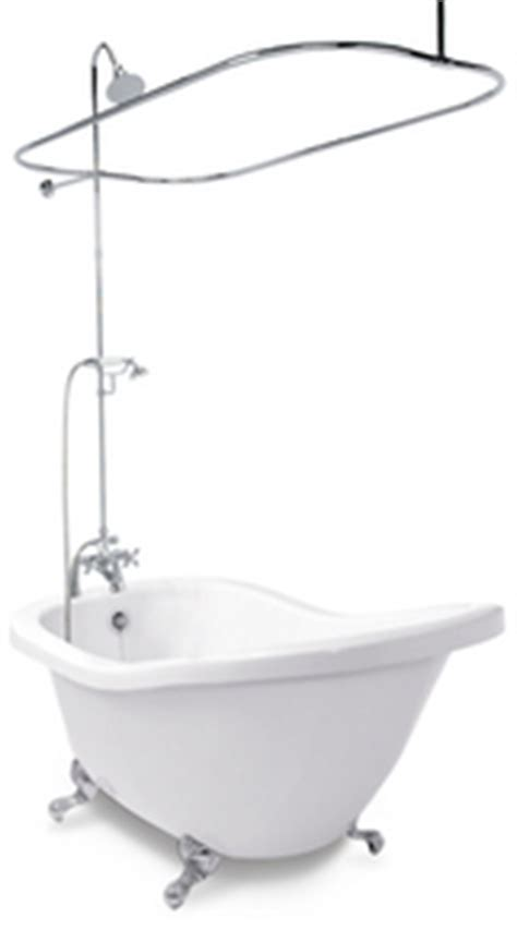 add  shower   existing clawfoot bathtub