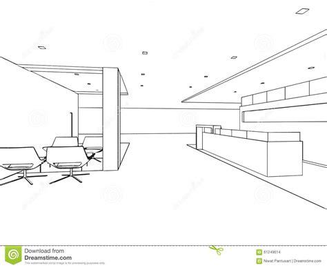 bureau de dessin croquis intérieur de dessin d 39 ensemble de bureau