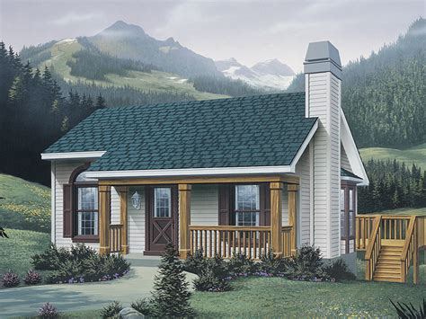 woodsmill vacation cabin home plan   house plans