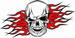 Danger evil skull as a tattoo isolated on white | Stock ...