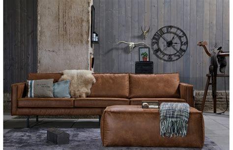 canap 233 vintage cuir marron clair 3 places aspen prix promo