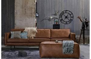 Canapé Cuir Marron Clair : canape cuir vintage pas cher ~ Carolinahurricanesstore.com Idées de Décoration