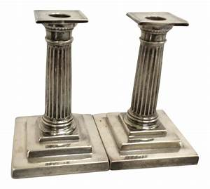 gorham sterling silver candle holders a pair chairish With kitchen cabinets lowes with gorham sterling candle holders