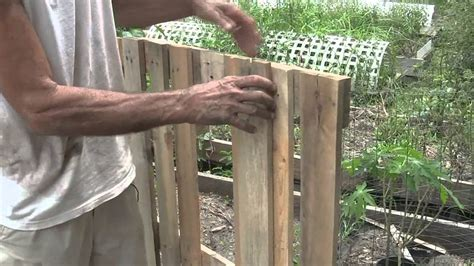 build  raised bed garden  pallets youtube