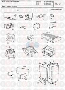 Baxi Solo Pf 2 60  First Line Spares  Diagram