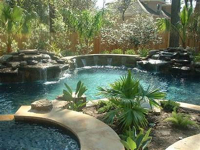 Pools Pool Natural Freeform Waterfall Lagoon Water