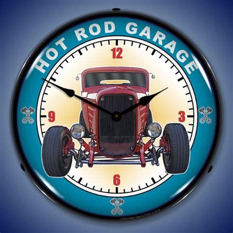 rod garage lighted wall clock lighted wall clocks