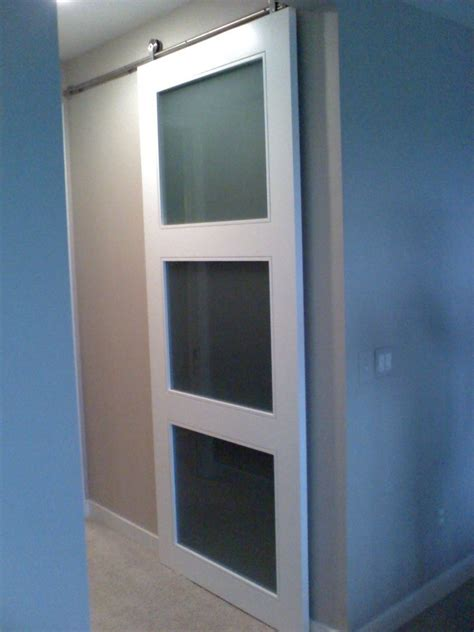 crafted custom closet doors with barn door hardware