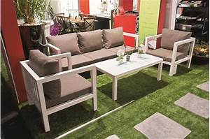 Salon De Jardin Taupe. salon de jardin ibiza taupe 4 places salon de ...