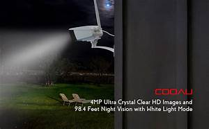 Amazon Com   Outdoor Security Camera  Cooau 4mp Hd Bullet