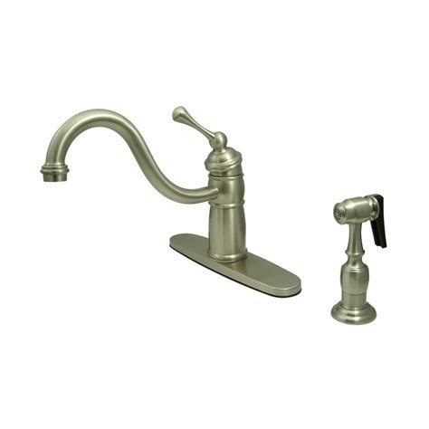 new kitchen faucet shop elements of design new orleans satin nickel 1 handle