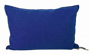 Coussin Vice Versa 30 X 50 Cm Lin Bleu Cobalt Maison