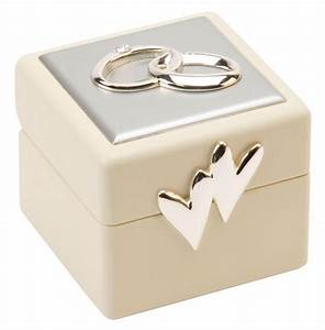 Beautiful amore double wedding ring box holder cushion for Double wedding ring box