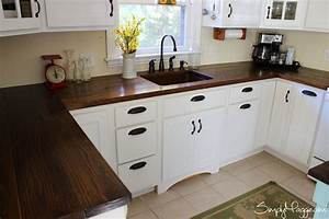 charming and classy wooden kitchen countertops With kitchen colors with white cabinets with make your own stickers at home