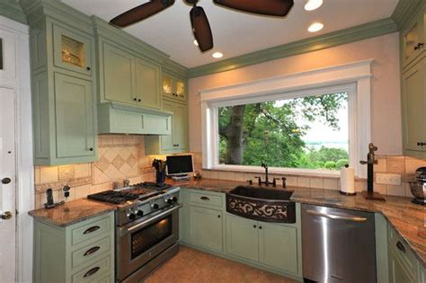 Green Kitchen Cabinets With Black Appliances by Green Kitchen Walls Green Kitchen Cabinets