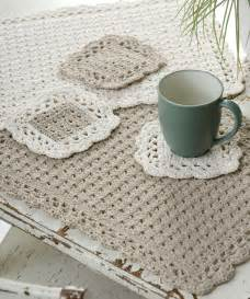 Coasters and Placemat Crochet Pattern