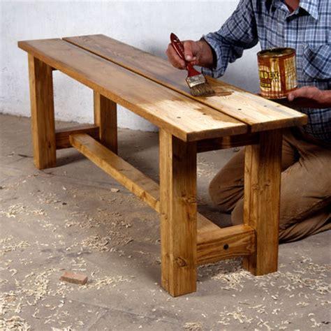 banc de cuisine en bois comment fabriquer un banc en bois massif bricobistro