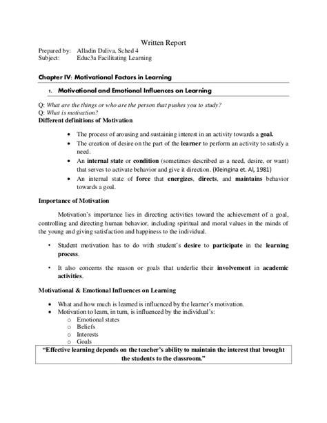 motivation letter 1 motivational and emotional influences on learning 23702   1 motivational and emotional influences on learning alladin daliva 1 638