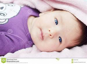 Cute baby with blue eyes stock image. Image of healthy ...