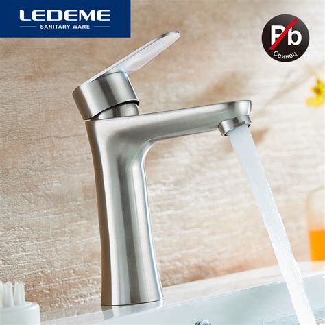 Modern Stainless Steel Bathroom Faucets by Aliexpress Buy Ledeme Basin Faucet Modern Style