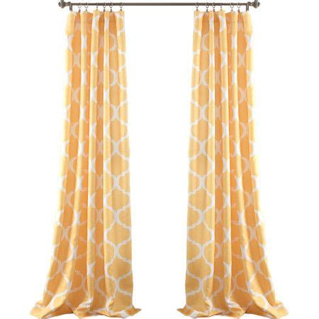 thalia velvet blackout single curtain panel yellow