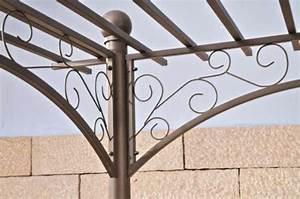 Pergola Aus Metall : clp metall pergola pavillon ulpgar 01 a aus beschichtetem eisen gr e 310 x 186 cm h he 228 ~ Sanjose-hotels-ca.com Haus und Dekorationen