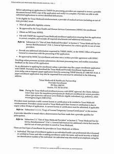 Texas Medicaid Provider Procedures Manual  Volume 1